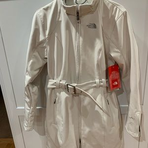 The North Face hooded jacket with belt